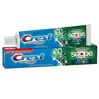 Crest complete whitening + scope toothpaste, lasting mint, 4 oz