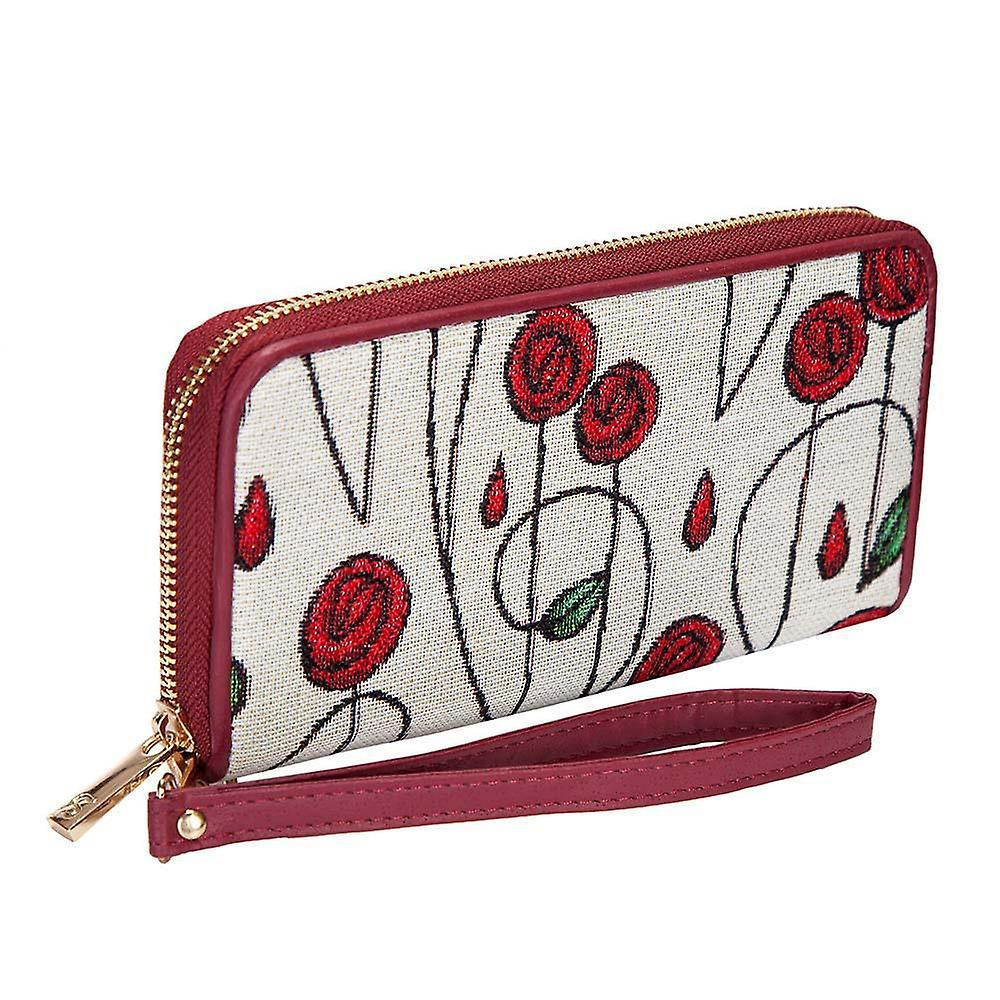 Mackintosh - simple rose long zip money purse by signare tapestry / lzip-rmsp