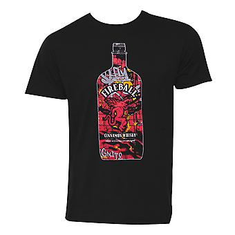 Fireball Whisky Graffiti Bottle T-Shirt