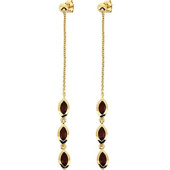 Kira Dor earrings - Red Grenat