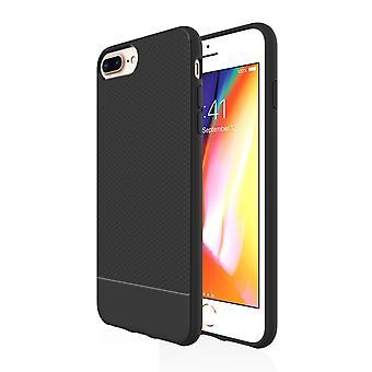 Für iPhone 8 Plus, 7 Plus, 6 Plus & 6 s Plus Fall, schwarz Snap schlanke Rüstung Abdeckung
