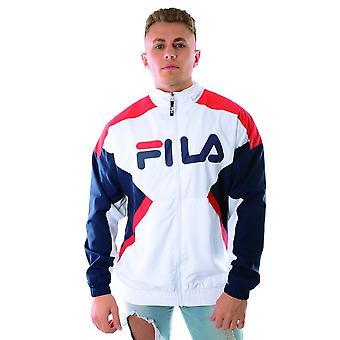 Fila Olivero Lm932994 Lightweight Colour Block Windbreaker Jacket - White