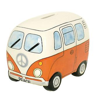 Small Campervan Money Bank - Orange