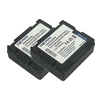 2 x Dot.Foto Panasonic CGR-DU06, bateria CGA-DU07 - 7.2 v / 750mAh