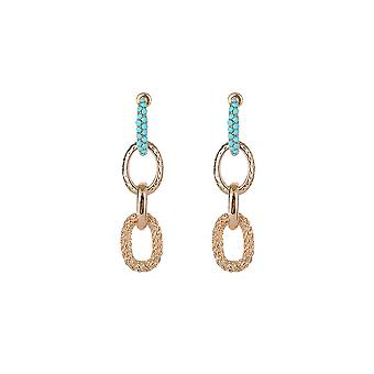 Textured Gold Chain Link Earrings