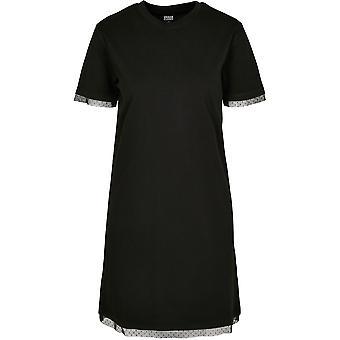 החולצה העירונית הקלאסיקה נשים שמלת בורוקסי תחרה שולי טי