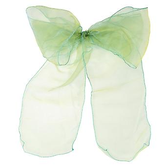 17cm x 274cm Organza Table Runners Wider et Fuller Sashes Green