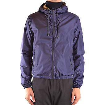 Fay Ezbc035069 Men's Blue Nylon Outerwear Jacket