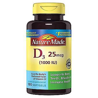Nature made vitamin d3, 1000 iu, tablets, 100 ea