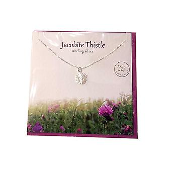 Jacobite Thistle Pendant Card by The Silver Studio