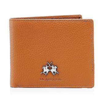 La Martina Tumbled Leather Ambrosio Coin Wallet