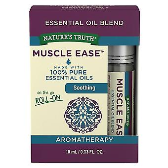 Nature's truth essential oil roll-on blend, muscle ease, 0.33 oz