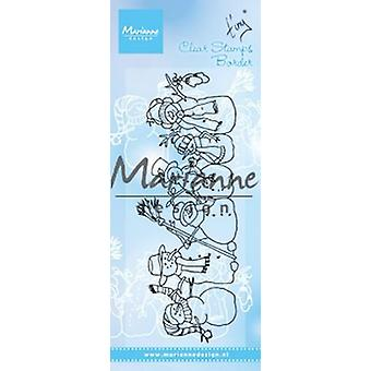 Marianne Design Clear Stamp - Tiny's Border Snowmen TC0869