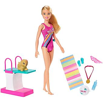 Barbie GHK23 Dreamhouse Adventures Swim 'n Dive Doll and Accessories