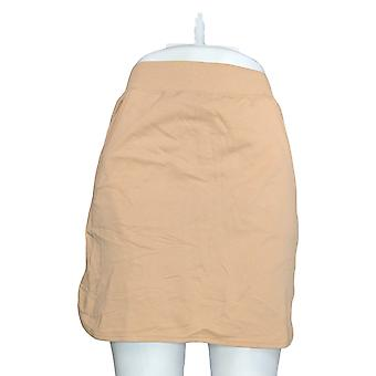 Denim & Co. Rock (XXS) Aktive Französisch Terry Kurve Sum Skort Beige A251445