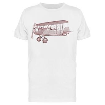 Lentokone Kaiverrus Vintage Tee Men's -Kuva Shutterstock