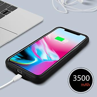 3500mAh Protective Battery Case 2-in-1 Case for iPhone X/XS- Akashi, Black