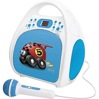 Silva Schneider Kids Play One Kids CD player CD, CD-R Incl. microphone Blue
