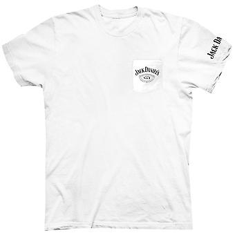 T-shirt De poche blanche de Jack Daniel-apos
