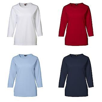 ID mujeres/señoras montaje Regular Pro usar camiseta de manga 3/4