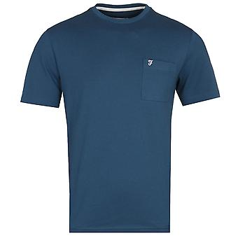 Farah Edwards Modern Fit Dark Sarcelle Pocket T-Shirt