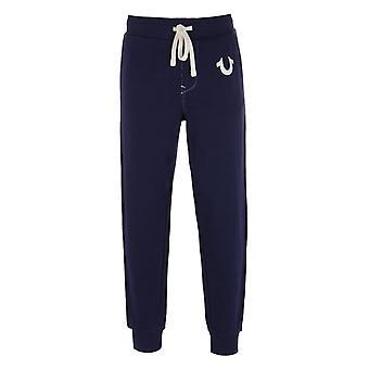 True Religion Classic Logo Navy Sweatpants