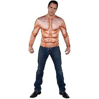 Muscles véritable chemise adulte