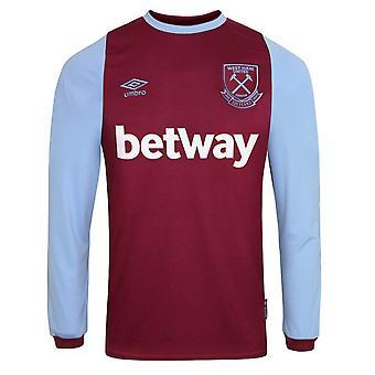 2020-2021 West Ham camiseta de fútbol en casa de manga larga