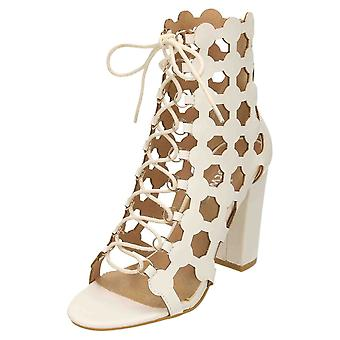Koi Footwear High Heel Open Toe Ankle Boot Lace Up Sandals