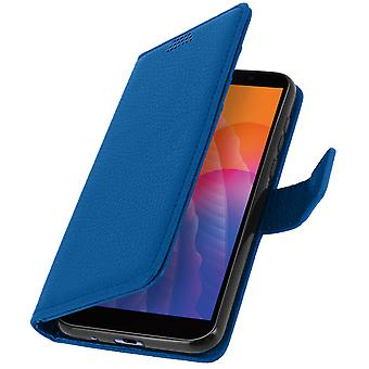 Protective Case for Huawei Y5p Folio with Video support - Blue