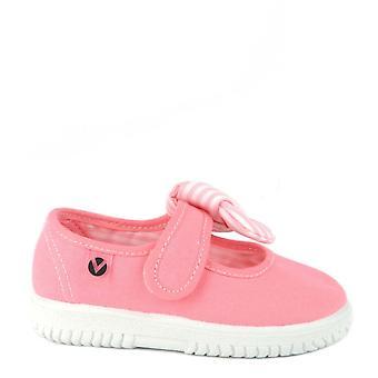 Victoria Shoes Ojala Hankie Flamingo Stripe Bow Pumps
