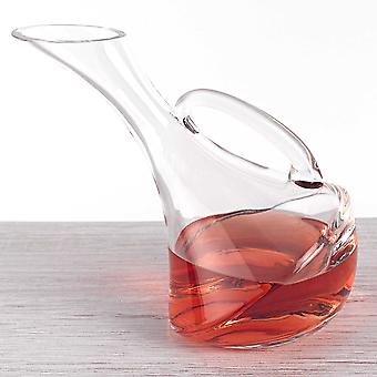 Mouth Blown Glass Wine Carafe - 32 oz.