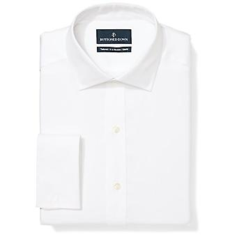 BUTTONED DOWN Men's Tailored Fit French Cuff Spread-Collar Non-Iron Dress Shi...