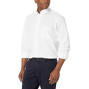 BUTTONED DOWN Men's Classic Fit Supima Cotton Stretch Knit Dress Shirt, White...