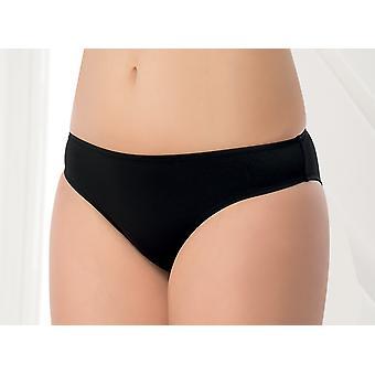 Aqua Perla  Womens Izmir Black  Bikini Bottom