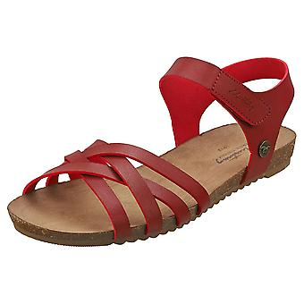 Mustang Single Strap Womens Casual Sandals in Red