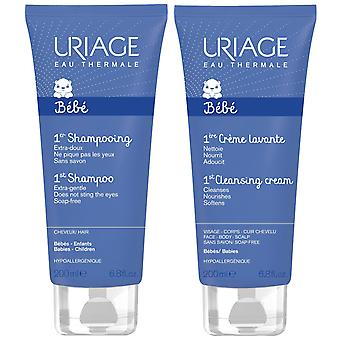Uriage Gift Set Baby 1o 200ml Creme de Limpeza + Shampoo de 200ml