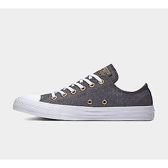 Converse Ctas Ox 560644C Fast schwarze Damen Schuhe Stiefel