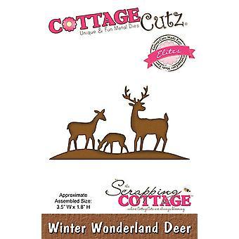 Sloop Cottage CottageCutz Winter Wonderland Herten (Elites) (CCE-049)