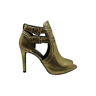 Michael Michael Kors Womens Blaze Leather Peep Toe Ankle Fashion Boots