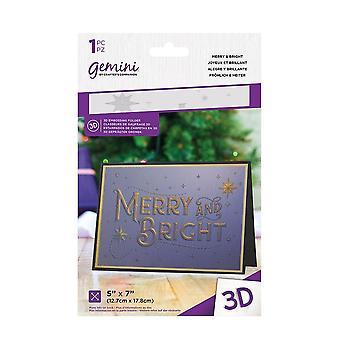 Gemini Merry & Bright 3D Embossing Folder