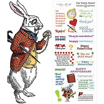 Briefpapier - White Rabbit - Kaart en Sticker Vel Nieuw 0581