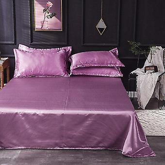 De lux Satin Silk Flat Sheet - Queen, King Size Fitted Bed Sheets