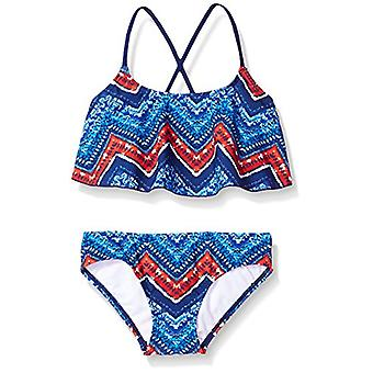 Kanu Surf Big Girls' Alania Flounce Bikini Beach Sport 2 Piece Swimsuit, Kirs...