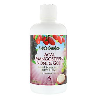 LifeTime Vitamins, Life's Basics, 4-In-1 Superfruit Juice Blend, Acai, Mangostee