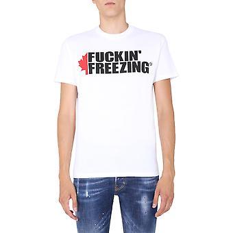 Dsquared2 S79gc0007s23009100 Men's White Cotton T-shirt