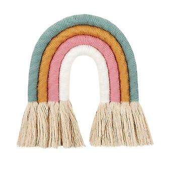 Nordic Style, Handcrafted Woven Rainbow-wall Hanging For Nursery And Room