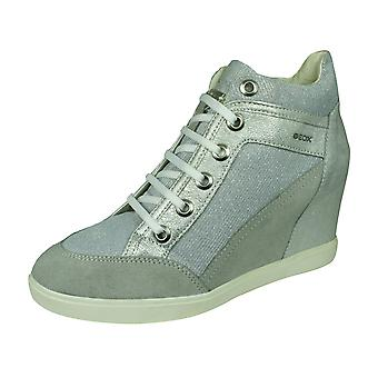 Geox D Eleni C Womens Suede Wedge Trainer Boots Light-Grey Silver Geox D Eleni C Womens Suede Wedge Trainer Boots Light-Grey Silver Geox D Eleni C Womens Suede Wedge Trainer Boots Light-Grey Silver Geox