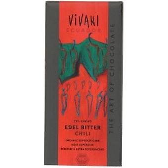 Vivani - orgaaninen Superior Dark chili suklaa 100gx10