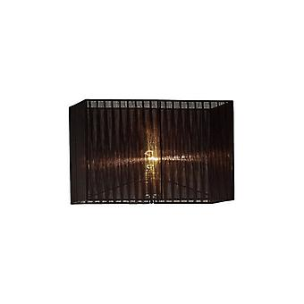 40 Cm Rechteck Organza Stoff Lampenschirm schwarz